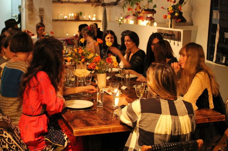 Some behind the scenes pics of our ace&jig Indian Summer - inspired dinner party at Brooklyn's Beautiful Dreamers, covered by the May 2014 issue of Elle!