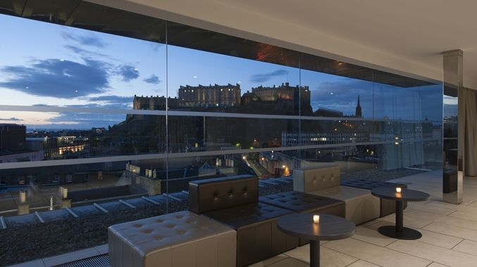 DoubleTree by Hilton Hotel Edinburgh (The scene from 'Sunshine on Leith' which Gareth asked about, was filmed at the Penthouse in this hotel) http://doubletree3.hilton.com/en/hotels/united-kingdom/doubletree-by-hilton-hotel-edinburgh-city-centre-EDICCDI/index.html