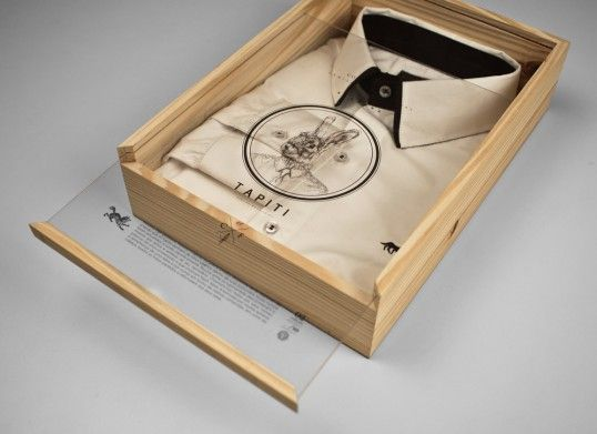 Conto Figueira – Fantastic earthy packaging for beautiful shirts.