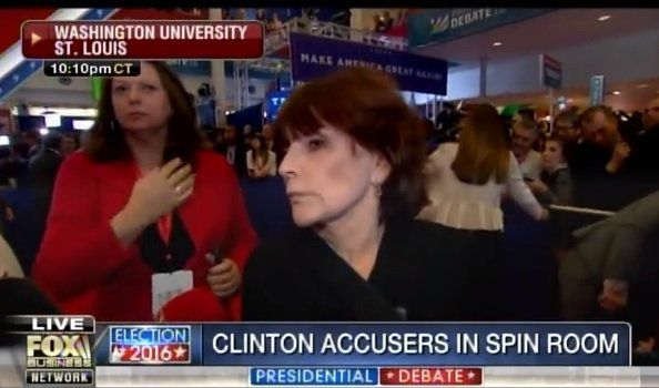 """DEVASTATING! Kathleen Willey in SPIN ROOM: """"It Was Not Easy"""" Being in Same Room as Bill Clinton (Video)  Jim Hoft Oct 10th, 2016"""