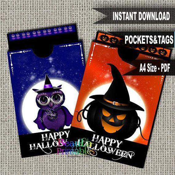 Halloween Tag & Pocket Tag Pocket Template Printable Tag and