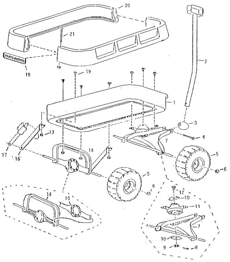 PLAYLOADER WAGON Diagram & Parts List for Model 21 Radio