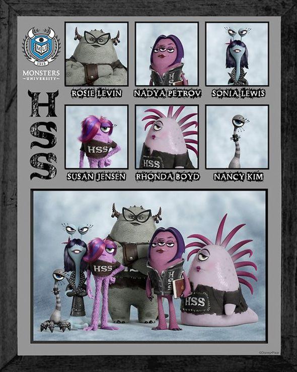 """Destaque de """"Universidade Monstros"""" são os cartazes das fraternidades dos monstros"""