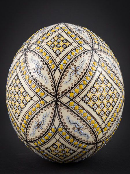 ostrich egg in wax technology
