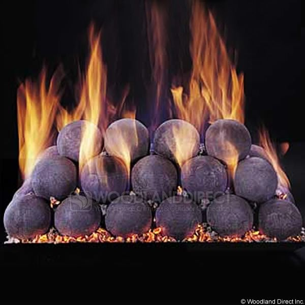 FireBall Uniform Refractory Ceramic Set | WoodlandDirect.com: Log Sets   Gas,  Rasmussen. Ventless Gas LogsGas Fireplace ...
