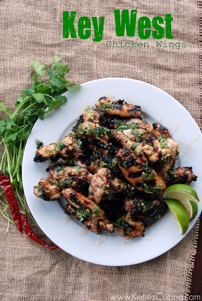 Key West Grilled Chicken Wings - #gameday #tailgate
