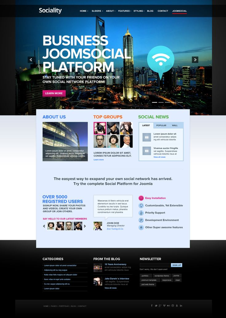 Sociality Joomla Template  by *DaJyDesigns  #webdesign