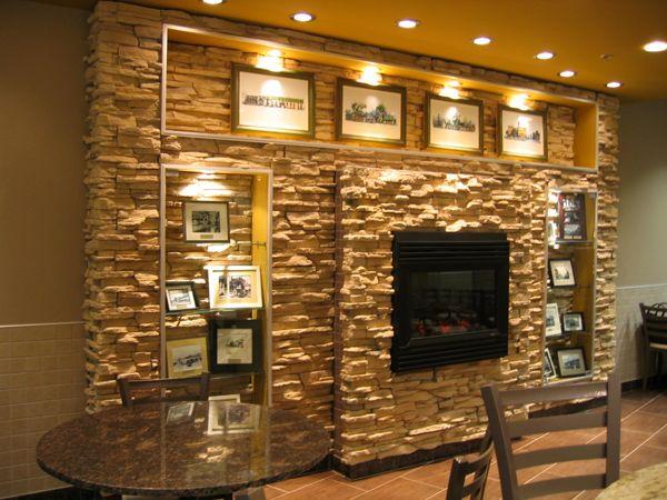 17 best ideas about grey stone fireplace on pinterest - Salones decorados con piedra ...