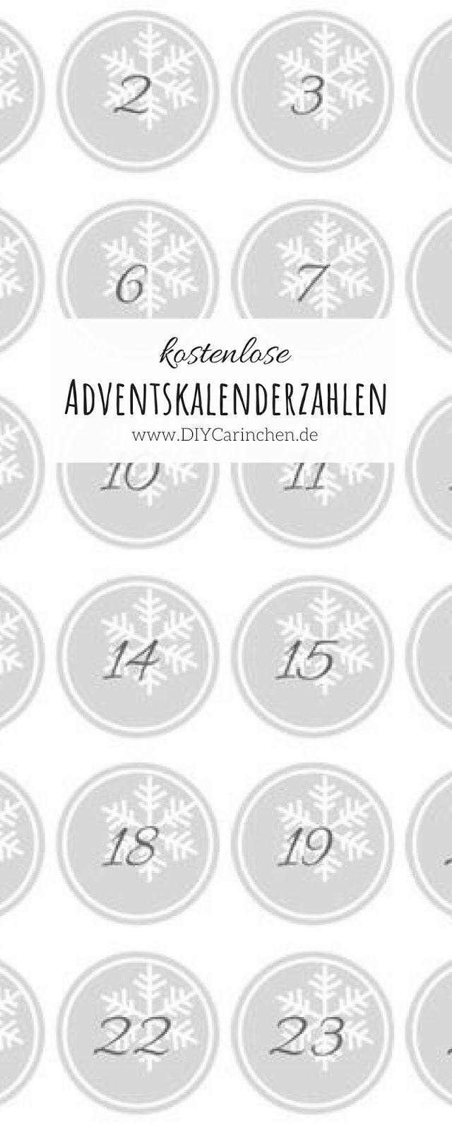 DIY kostenlose Adventskalender Zahlen als PDF zum Ausdrucken - mein ...