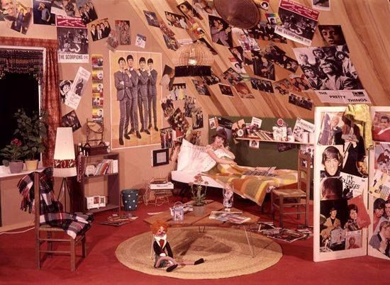 60s teen bedroom been there had that pinterest for Beatles bedroom ideas