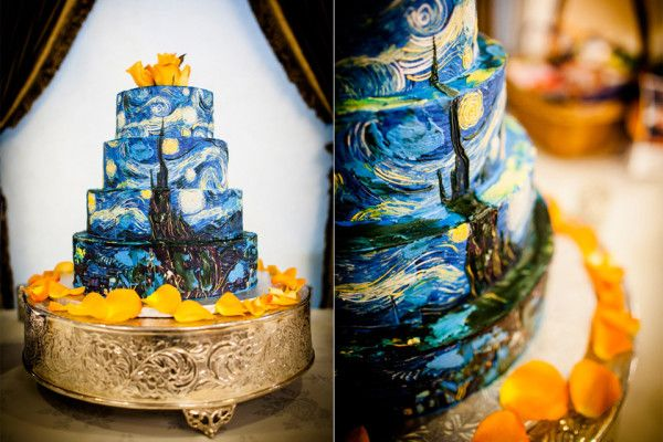 Good Golly this van gogh cake