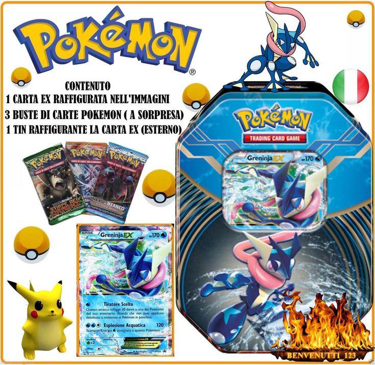POKEMON TIN GRENINJA EX XY20  PROMO IN ITALIANO NUOVO PREZZO SPECIALE !!