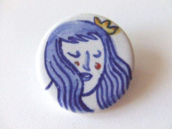 Ceramic brooch 6 by SusanaCarvalhinhos on Etsy