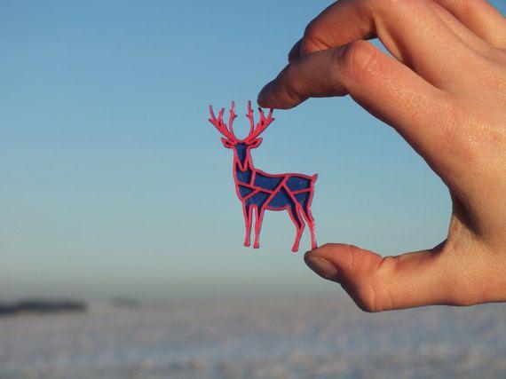 3D printed Deer nobble blue/magenta by 3lobit on Etsy