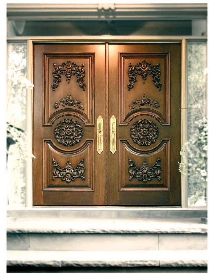17 best main door designs images on pinterest main door for Main entrance wooden door design