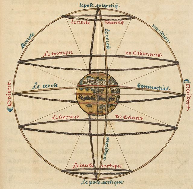 Oronce Fine, Le sphere de Monde, 1549. #circle #circular #spherical #mandala #postmandala