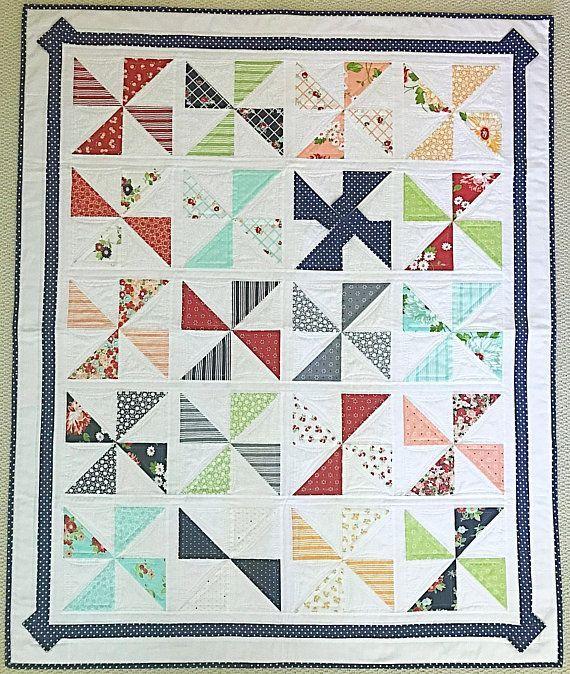 Baby Quilt Patten Pdf Pinwheel Quilt Pattern Patriotic Quilt Pattern