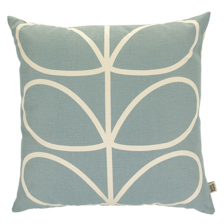Linear Stem Duck Egg Cushion - 45x45cm, £39. Spare room