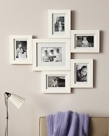 From the original craft queen Martha, wooden frames connected with mending plates...umm hello dollarstore frames! Genius!