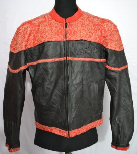 Alpinestars black label leather jacket