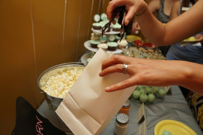 Pop Corn Bar - Jouella's Ready to POP Baby Shower - Mint, yellow and Grey - Sheep - Chevron - By: Spicy Chic Handmade Creations