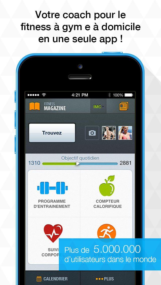 Fitness Tout-en-un par Sport.com: 1200 Exercices, Programmes, Compteur de Calories, BMI Calculator - Plus Sports // iAppsTOP.com http://www.iappstop.com/app/index.php?id=571227995