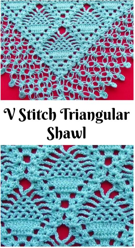 V Stitch Triangular Shawl – Crochet Ideas