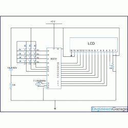 Electronic Keypad Lock Project using 8051 Microcontroller (At89C51) - circuit
