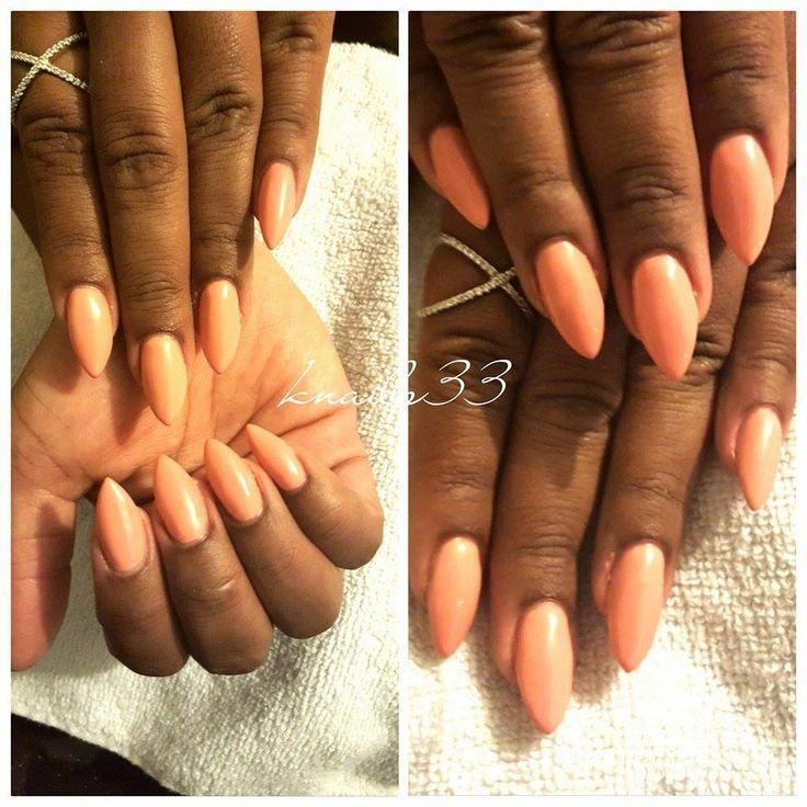 Gel couleur Apricot avec Knails33 Une couleur très appréciée par les clientes http://nailish.fr/lang/193-gel-color-cupio-apricot.html
