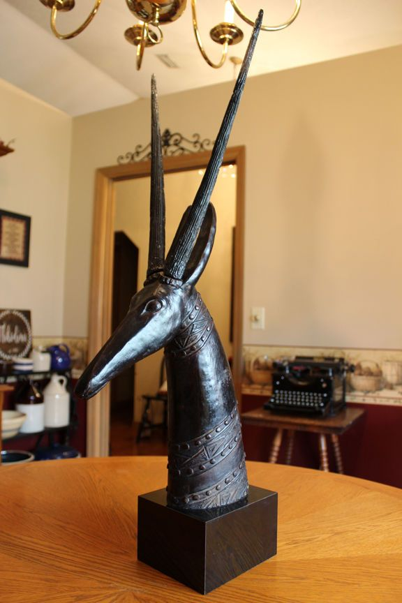 Mid Century Modern Style Antelope Gazelle Impala Oryx Head Austin Sculpture  | eBay