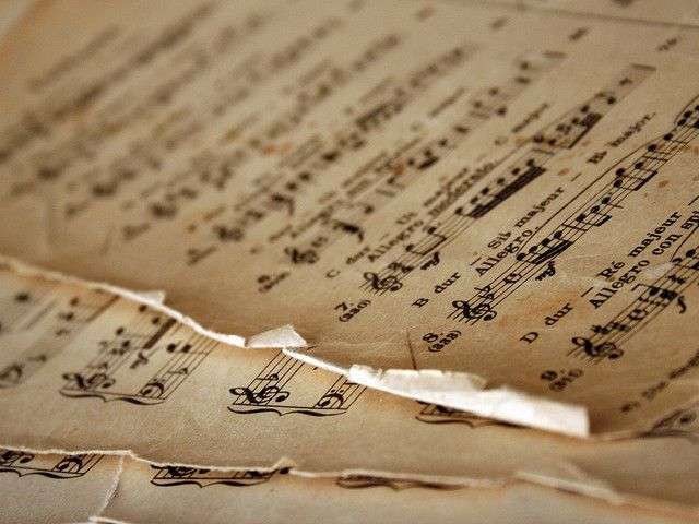 part of me wants to cut it up and make something creative and beautiful, and part of me can't bear to desecrate old sheet music.