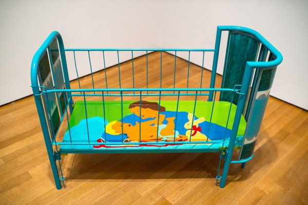 """Beatriz González's """"Lullaby"""" (1970), featured in """"Transmissions: Art in Eastern Europe and Latin America, 1960–1980,"""" at the Museum of Modern Art. Toward a Museum of the 21st Century - The New York Times"""