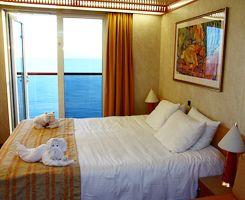 A balcony room on Carnival Spirit