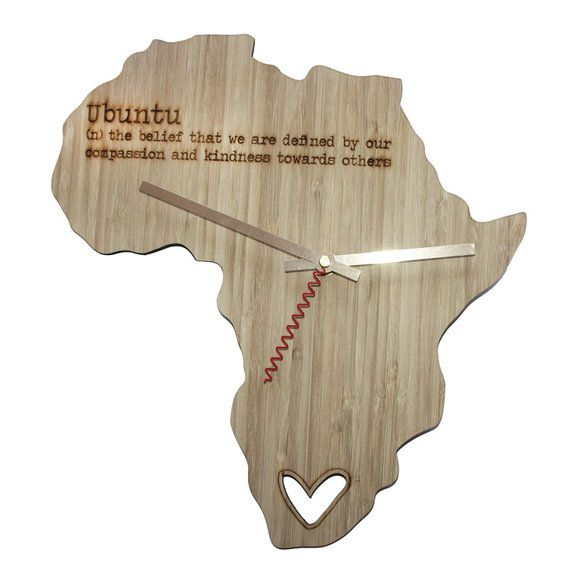 Africa bamboo clock by HALLO JANE | Hello Pretty. Buy design. Shop online #lovezabuyza