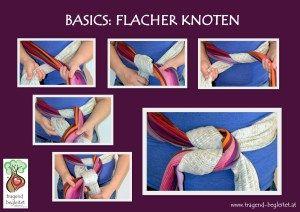 Reef knot / Flacher Knoten / Weberknoten  Tutorial, Finish, Babywearing