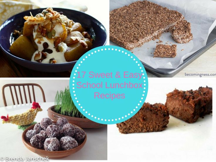 17 Sweet & Easy School Lunchbox Recipes | Brenda Janschek Health & Lifestyle