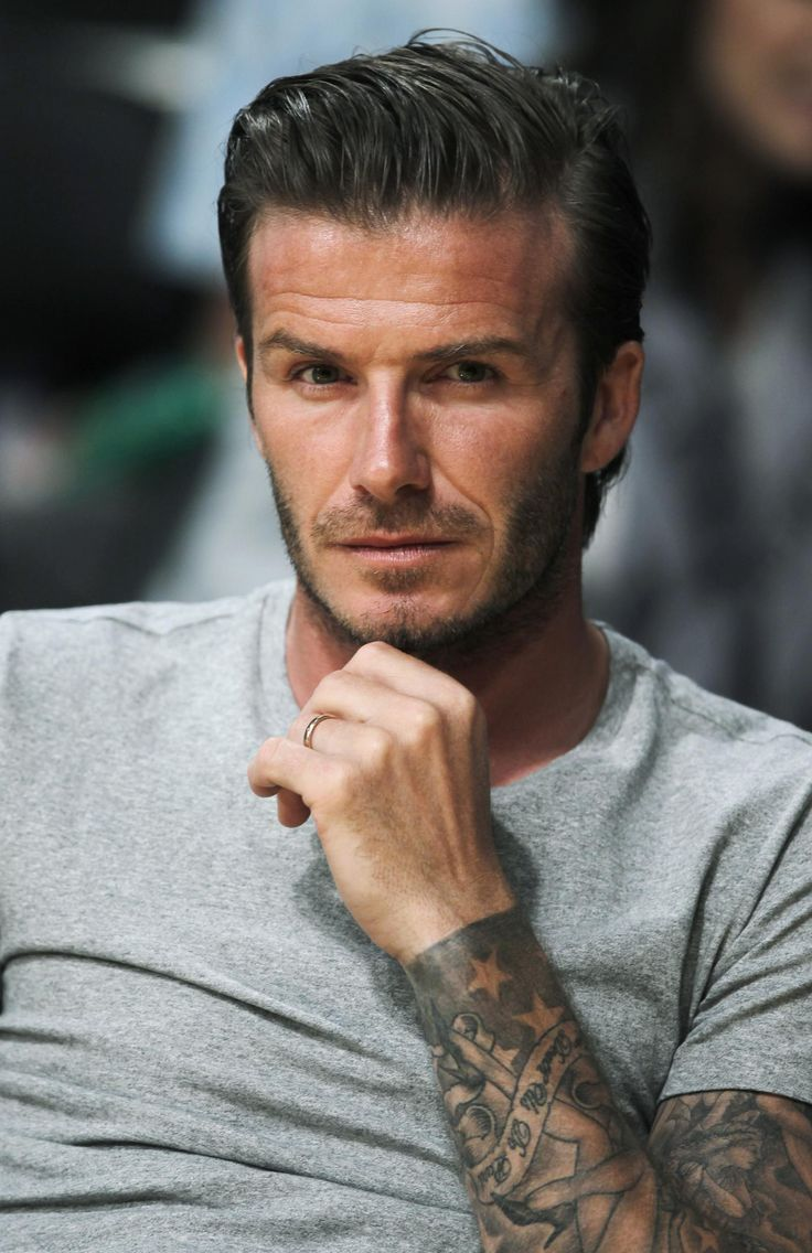 David Beckhams hair is what I'm slowly working towards. Now to sculpt my body into his body and cover it with tattoos......