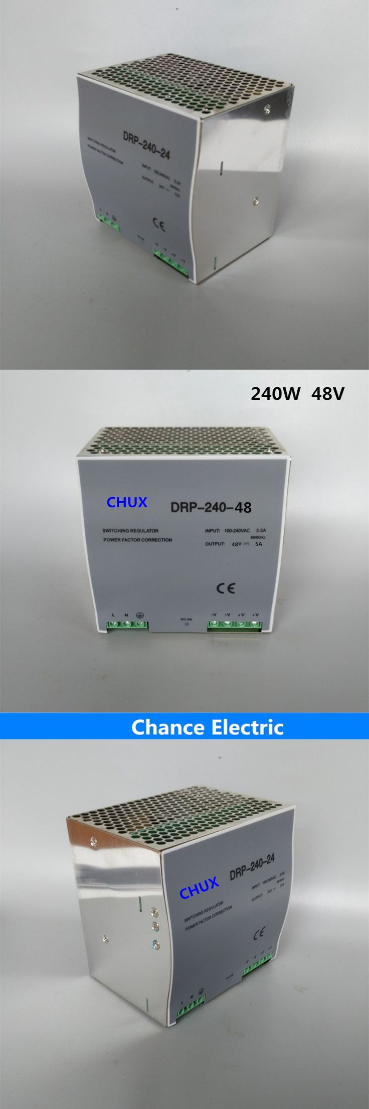 din rail mount switching power supply 240w 48v 5A Single Output  AC/dc input SMPS DR240-48v-5A  for cnc led light