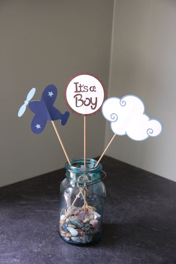 Airplane Centerpieces Take Flight Airplane Baby by GiggleBees