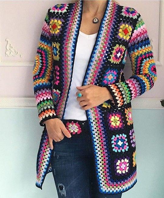 Como tejer un abrigo vintage con grannies