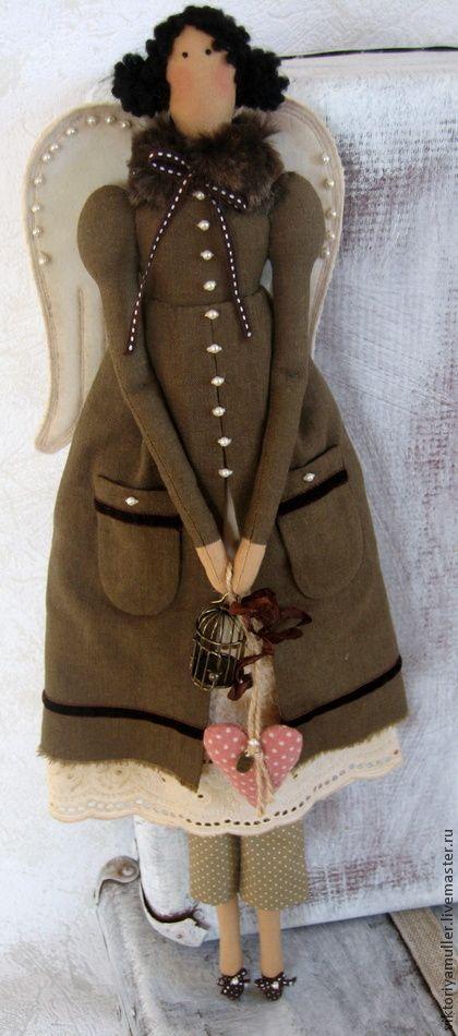 Куклы Тильды ручной работы. Ярмарка Мастеров - ручная работа Кукла в стиле Тильда Винтажный ангел. Handmade.