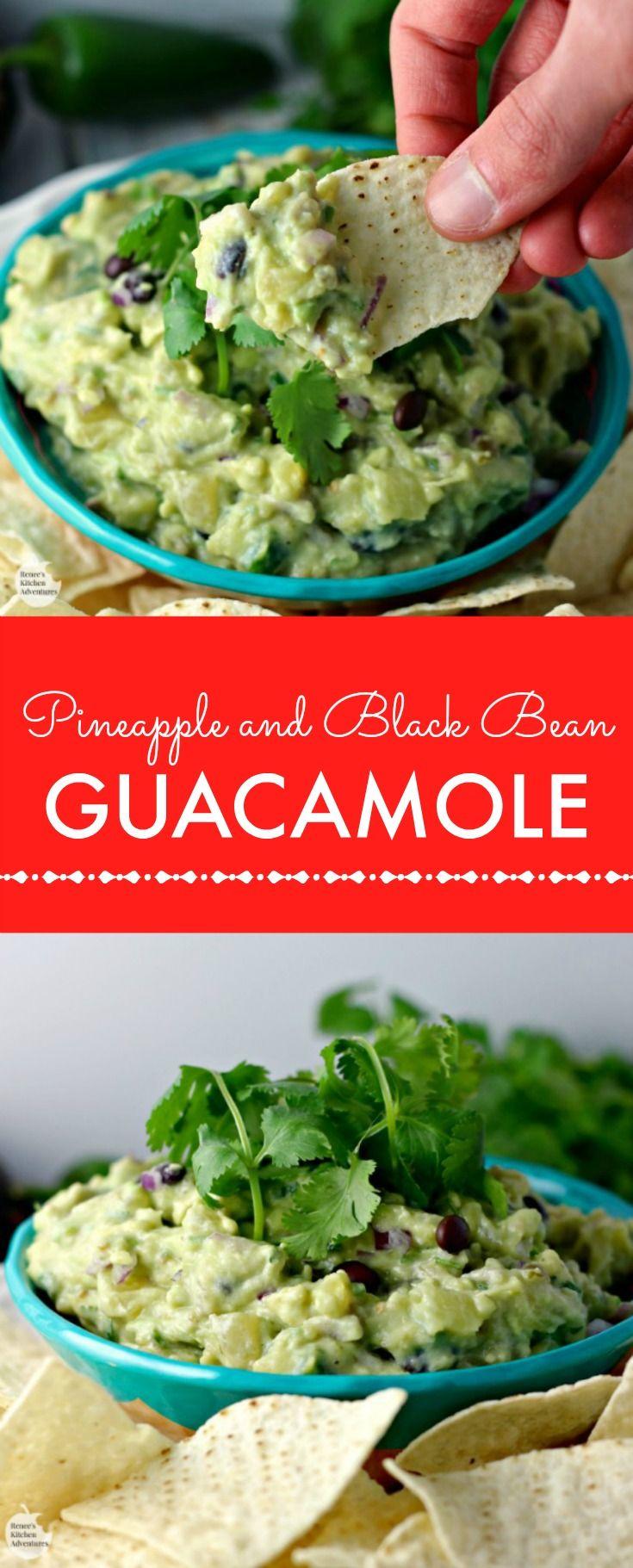 Pineapple and Black Bean Guacamole | Guacamole, Black Beans and Beans