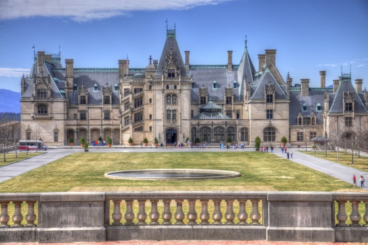 Biltmore in Asheville, North Carolina, America's Largest Home. We ate lunch in a horse stable here.