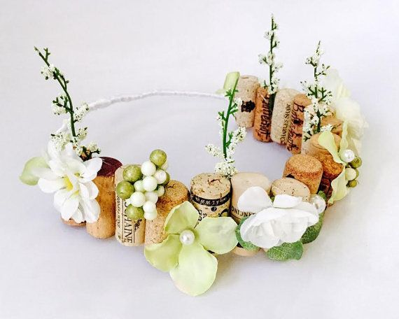 Bachelorette flower cork crown by KrisCampCreations on Etsy