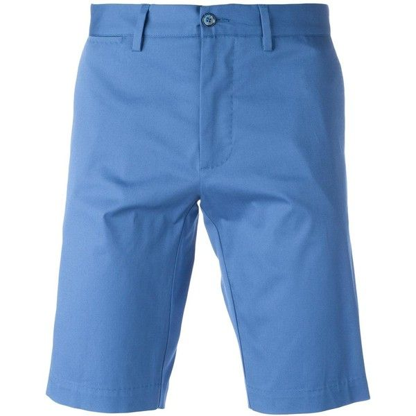 Dolce & Gabbana chino shorts (1,985 MYR) via Polyvore featuring men's fashion, men's clothing, men's shorts, blue, mens blue chino shorts, mens chino shorts, dolce gabbana mens clothing and mens blue shorts