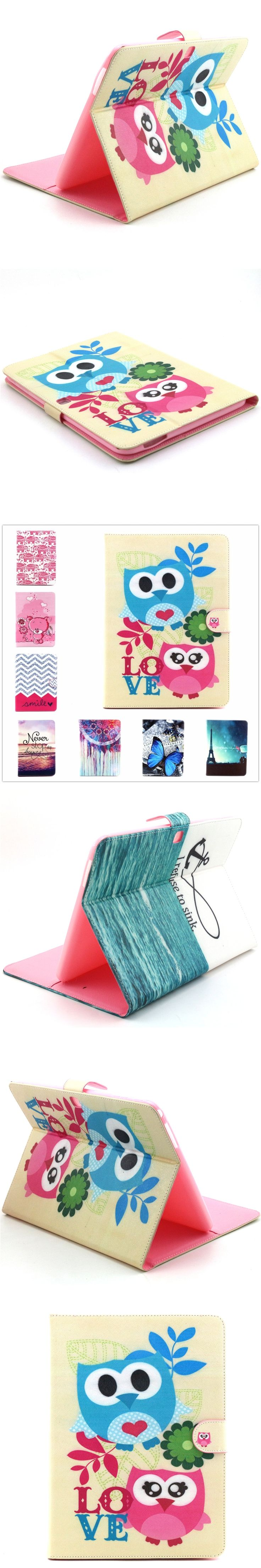 Painting PU Leather Stand Case with Card Slot for Samsung Galaxy Tab A 8.0 T350 T351 T355 sm-t355 P350 8'' Tablet SmartCover