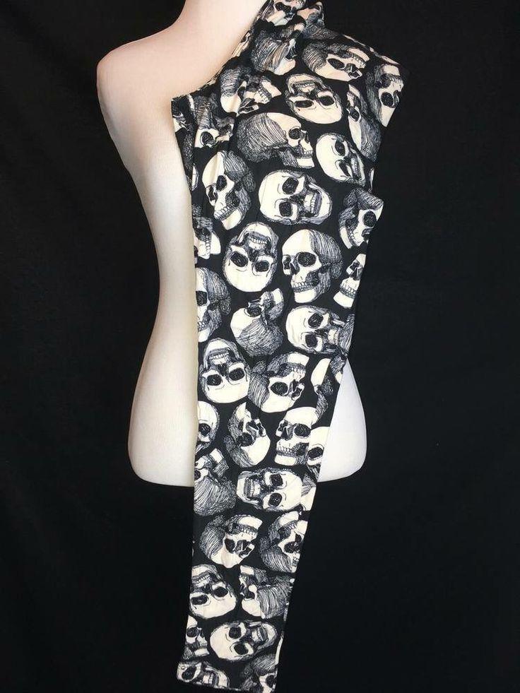 Lularoe unicorn leggings- Halloween leggings black with skulls
