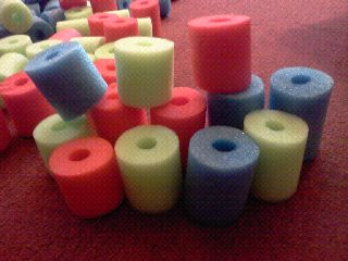 Cut up pool noodles for another type of block in the #Block Area of a #Creative_Curriculum for #Preschool classroom.