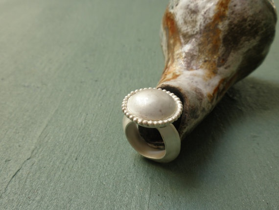 BEAUTIFUL Fine Silver cocktail Ring 34 by ChenFuchsJewelry on Etsy, $219.00