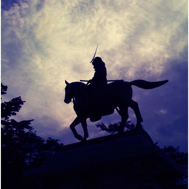 Statue of a hero in Sendai, Japan :)